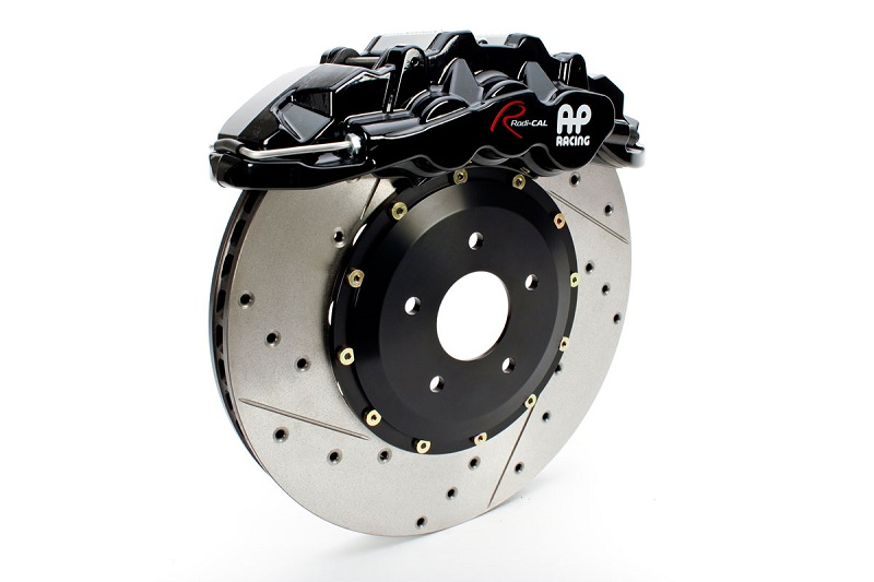 AP Racing Radi-CAL by STILLEN 6 pot caliper with cross drilled and slotted rotor