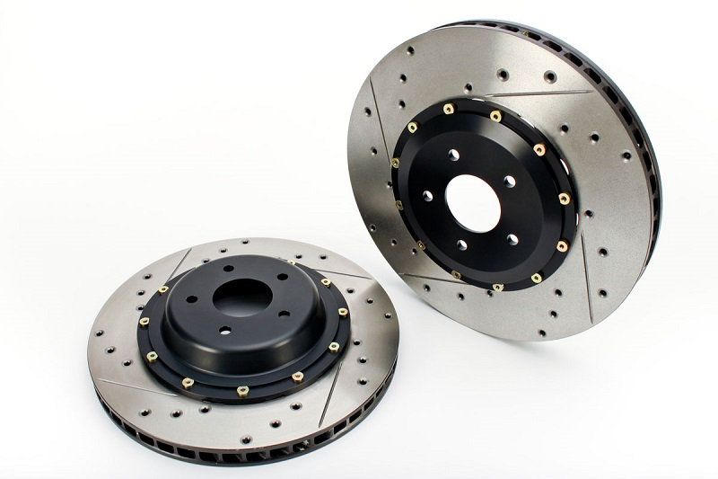 Cross drilled and slotted rotors
